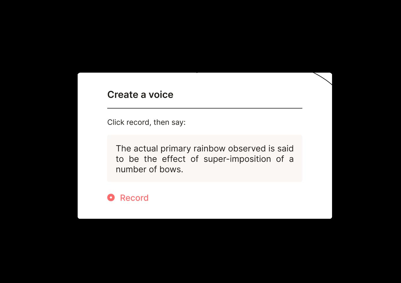 Replica Voice